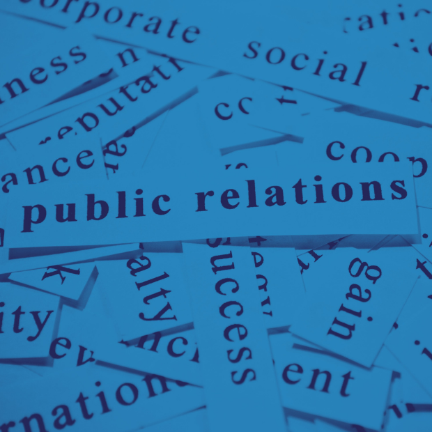 Newspaper cuttings of the phrase public relations